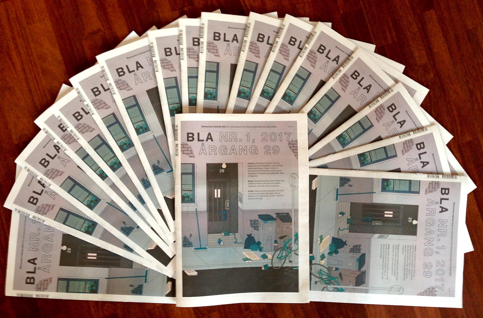 BLA har i 2017 blitt Noregs første månedsavis for litteraturkritikk og essayistikk
