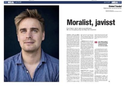 Faksimile frå Dagsavisen 30. juli 2017. Foto: Wanda N. Nordstrøm