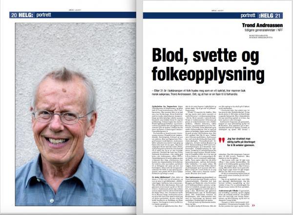 Faksimile Dagsavisen 2/7-2017. Foto: Mimsy Møller